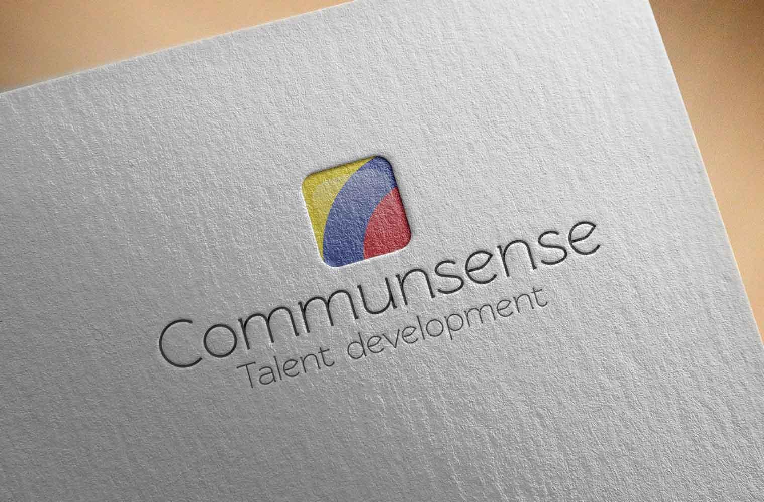 Logo Communsense - letterpress
