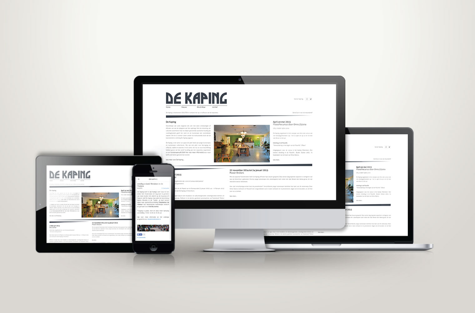 Website de Kaping - responsive