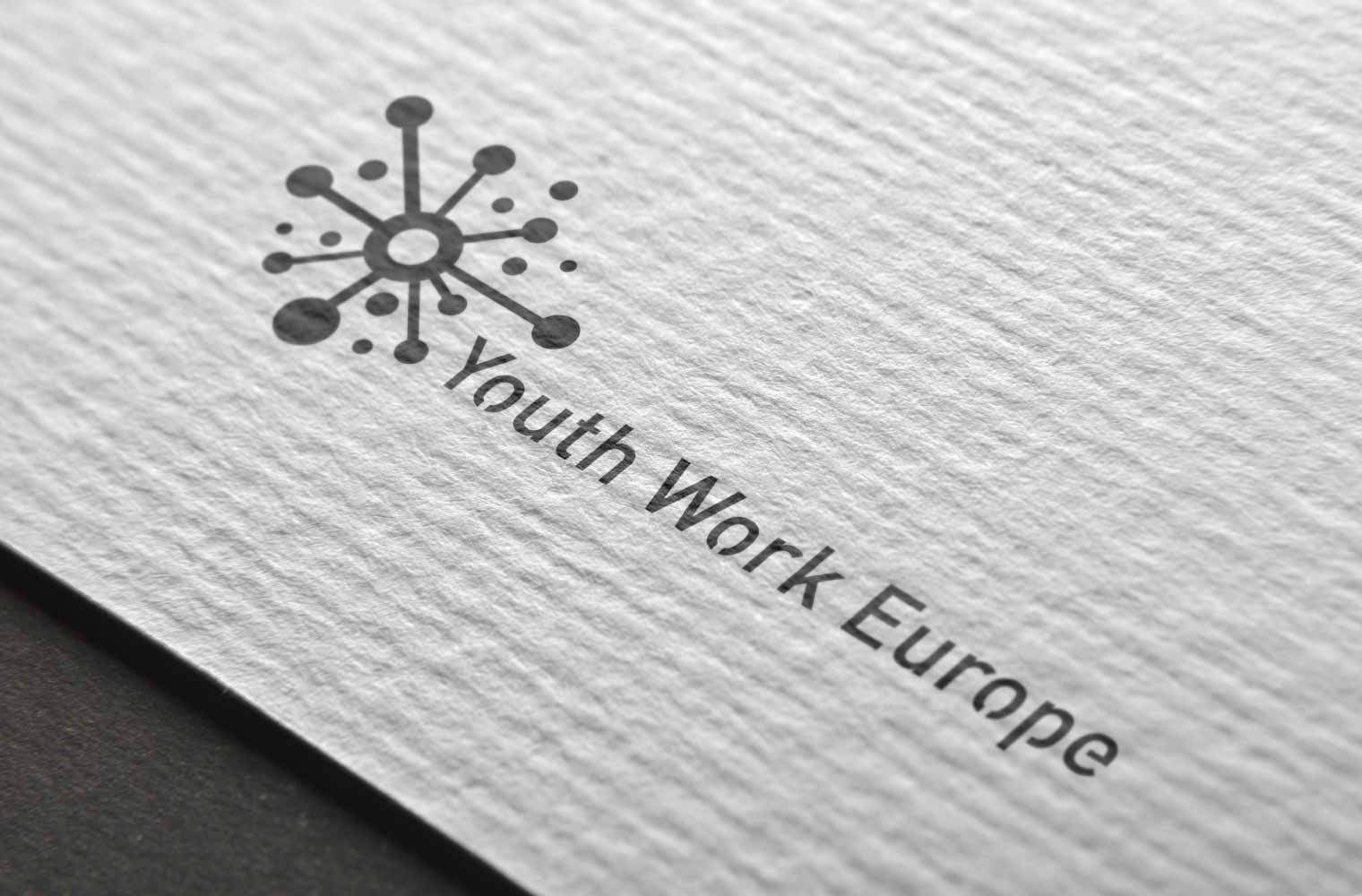 Logo Youth Work Europe (Black & White)