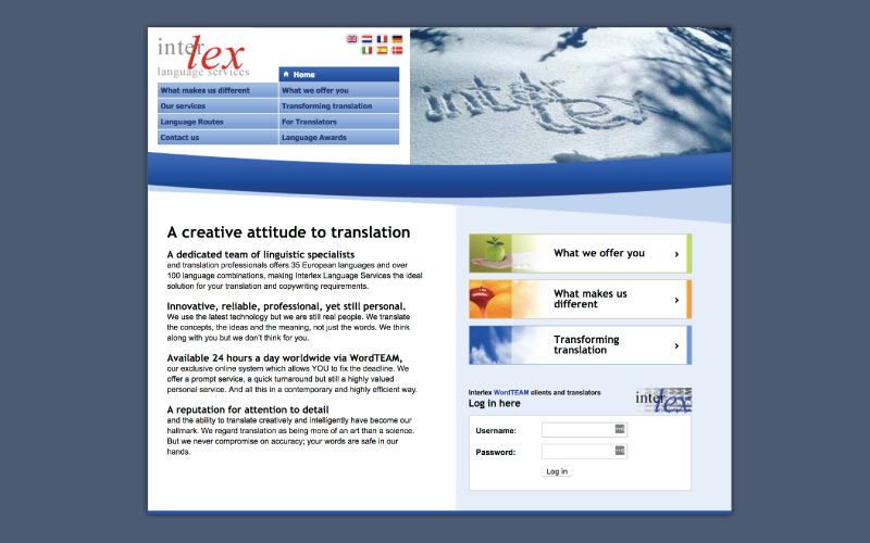 Website Interlex - before