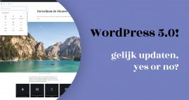 WordPress 5.0: gelijk updaten of wachten?