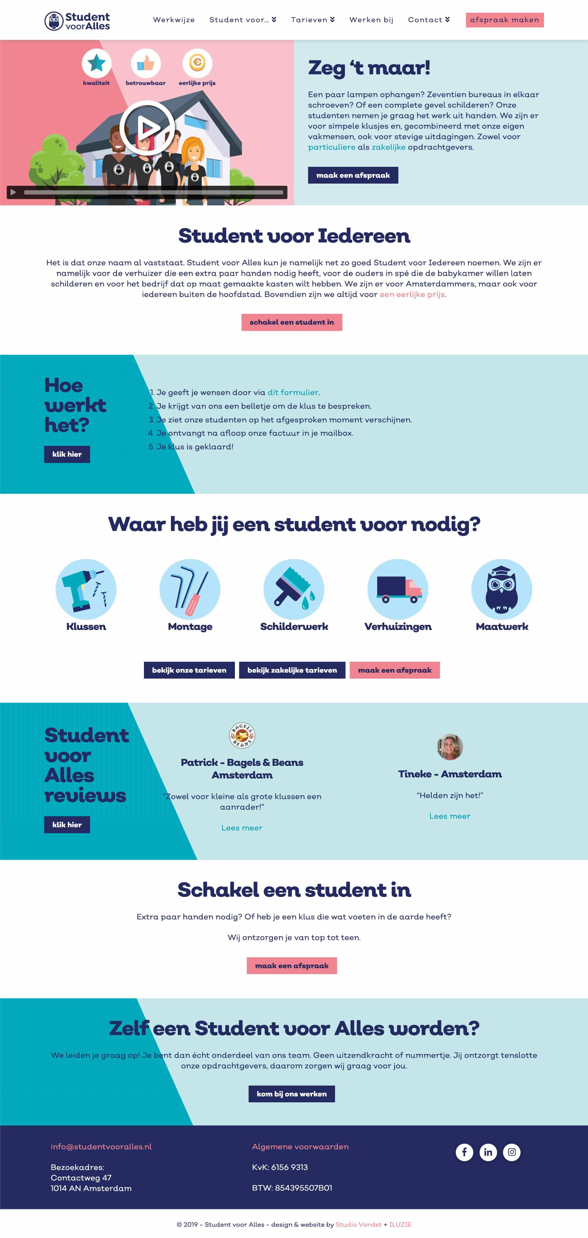 Student voor Alles - Homepage full - website door ILUZIE