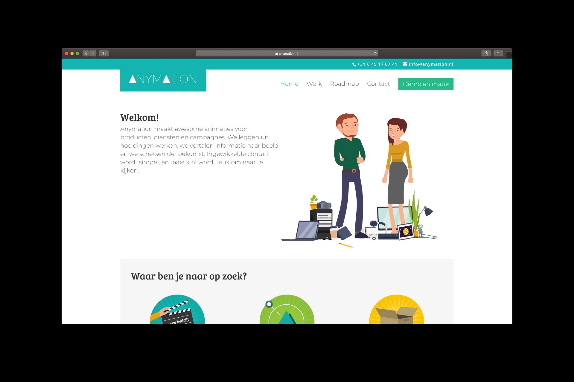website Anymation door ILUZIE - Homepage