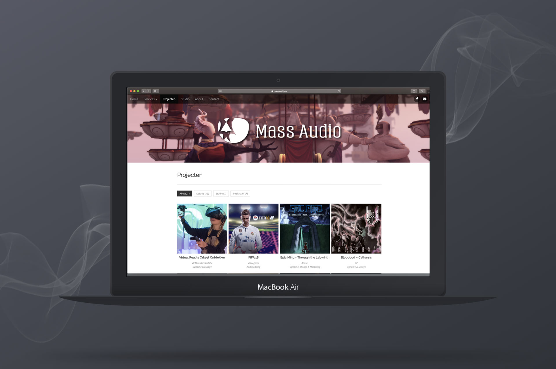 Website-Mass-Audio-door-ILUZIE