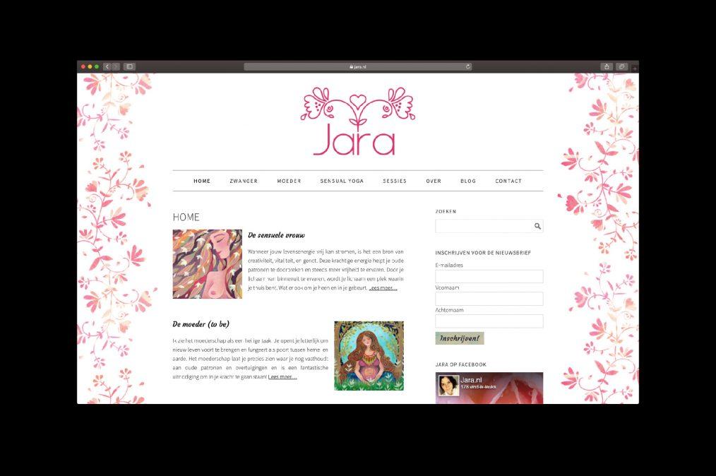 Website jara.nl - door ILUZIE (artwork Marileen Arbouw)