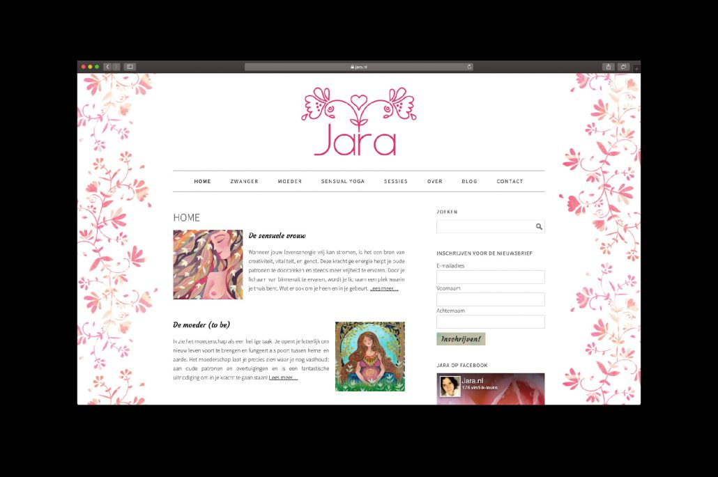 Website jara.nl - door ILUZIE (artwork Marileen Arbouw)