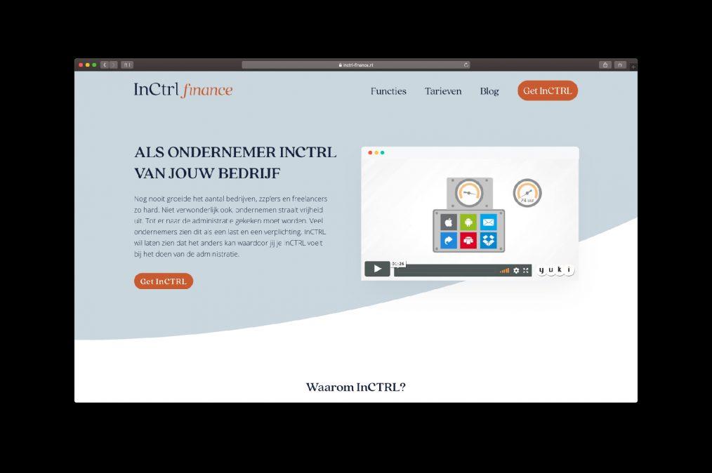 website InCTRL finance - door ILUZIE i.s.m. Fiona Gobbo Creative