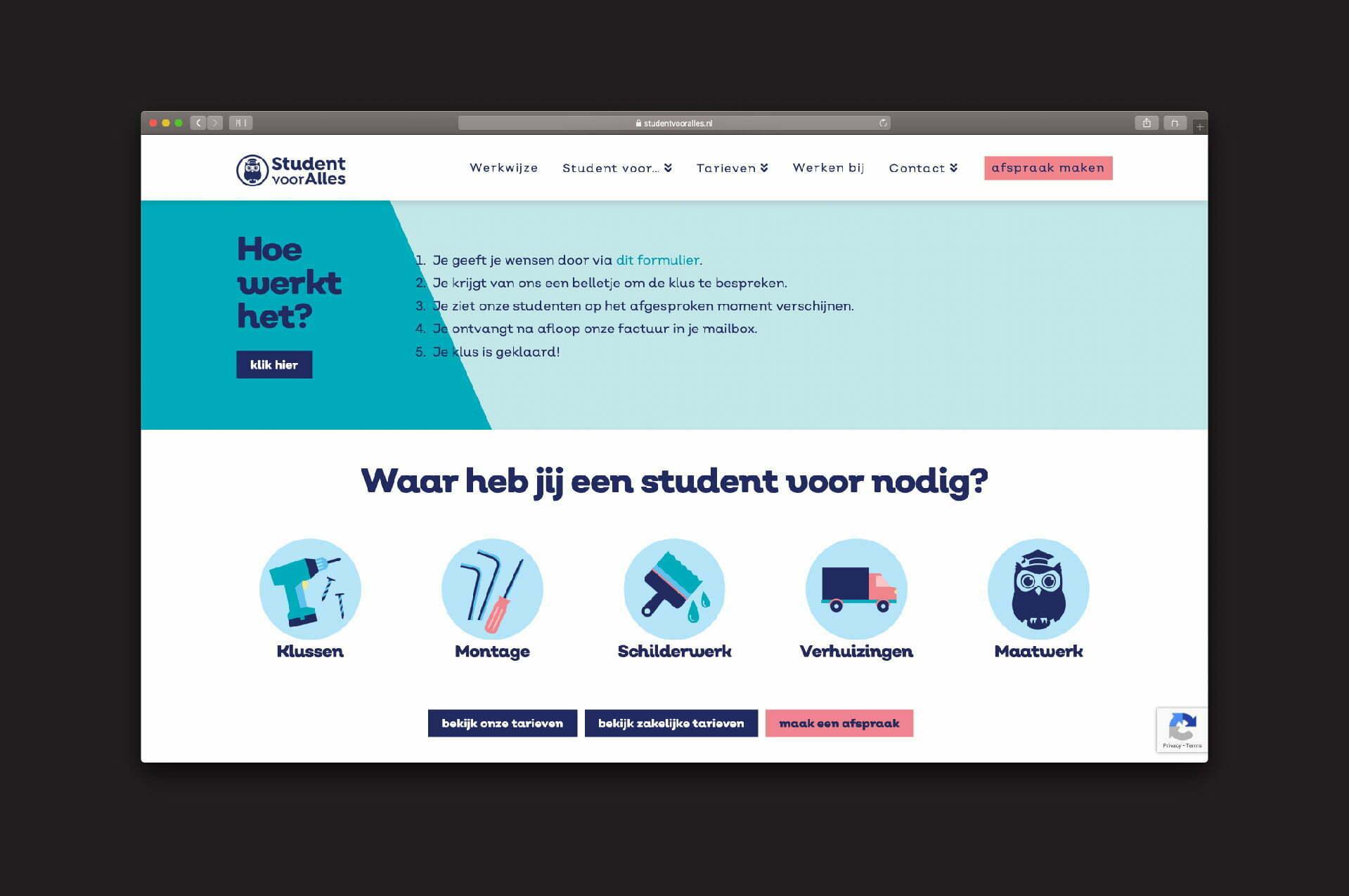 website Student voor Alles - hoe werkt het + iconen - door ILUZIE