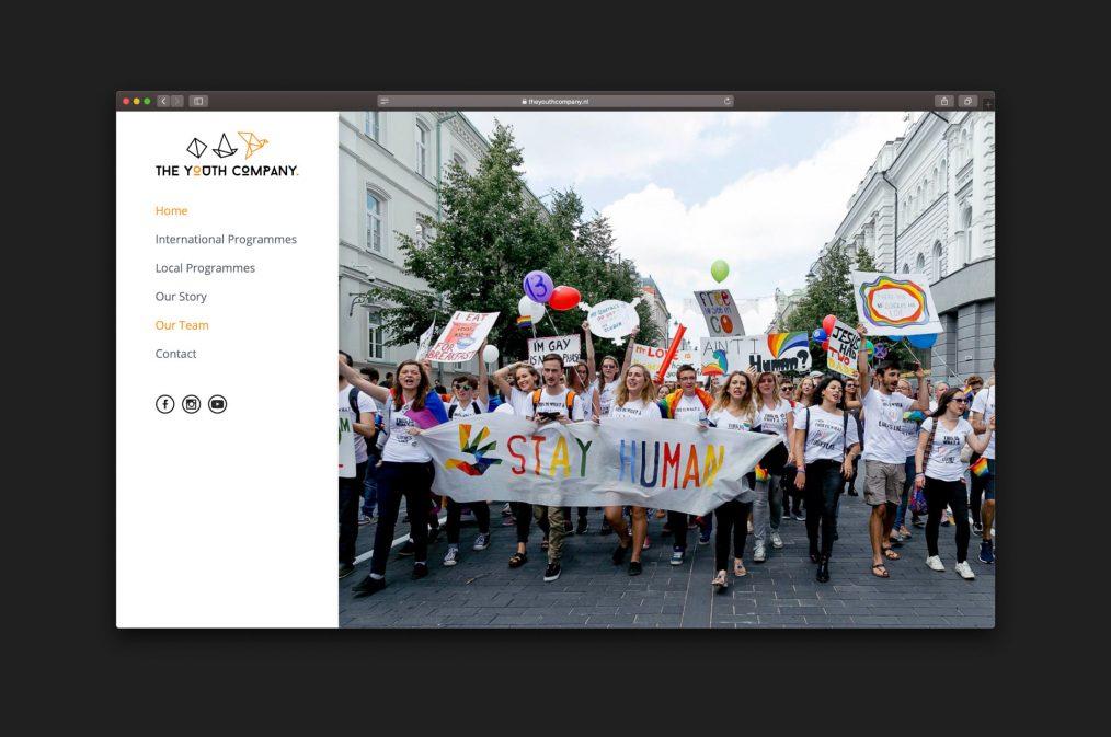 website The Youth Company - homepage - website door ILUZIE