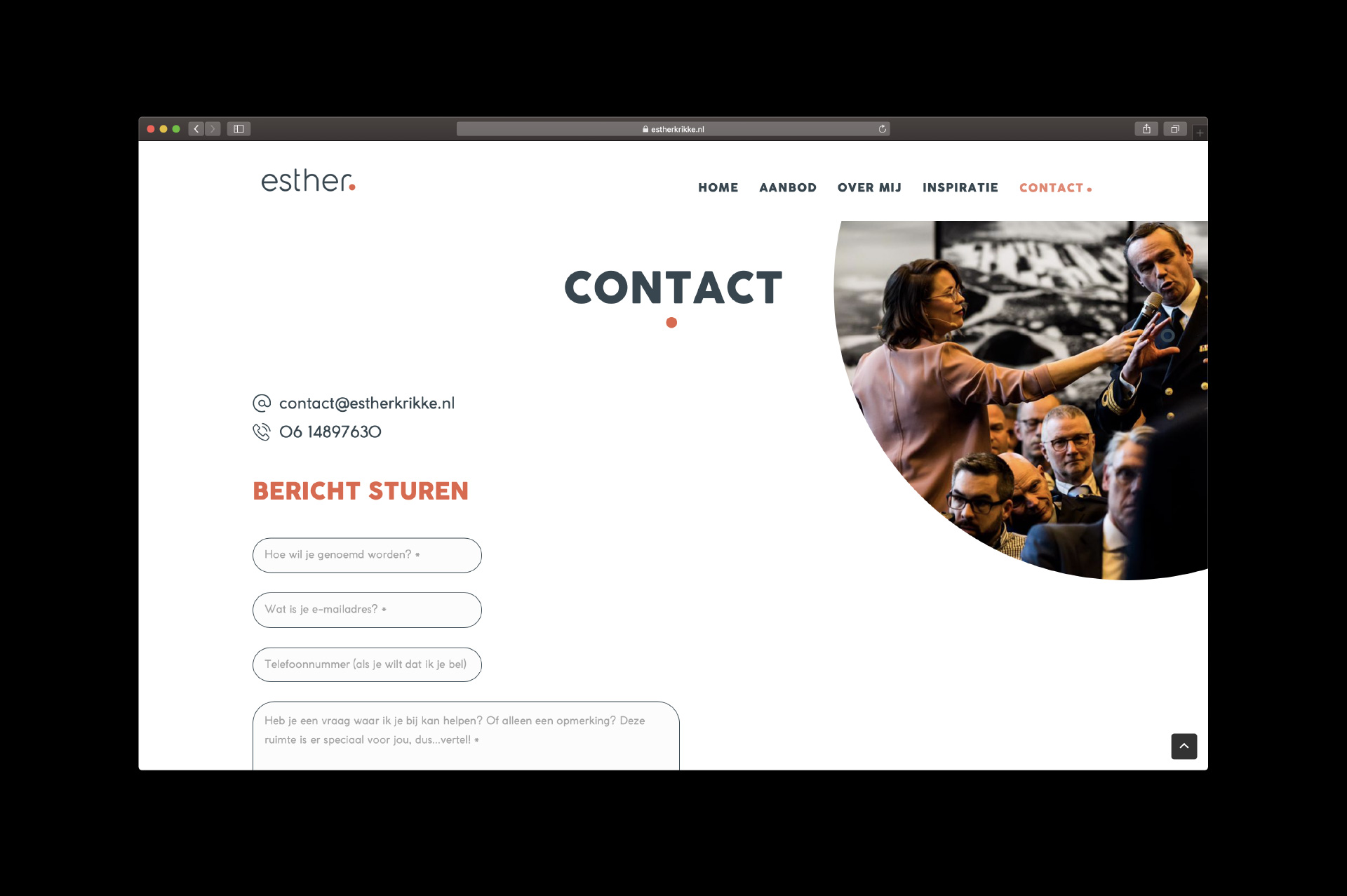 Esther Krikke - contact - website door ILUZIE