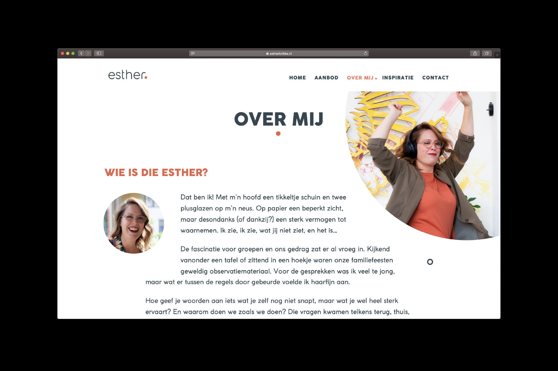 Esther Krikke - over mij - website door ILUZIE