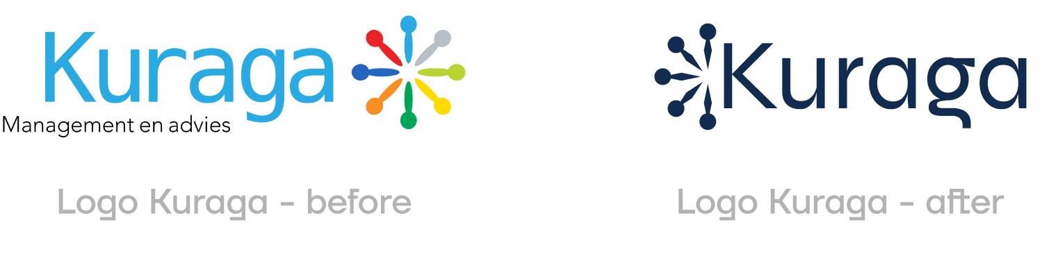 Logo Kuraga - Before & after