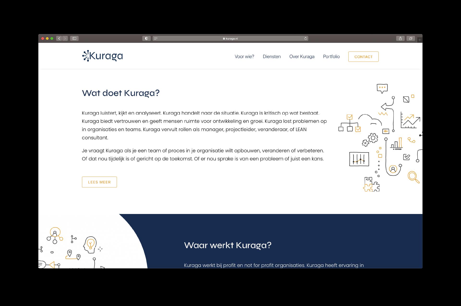 Website Kuraga - door Lizzy van ILUZIE