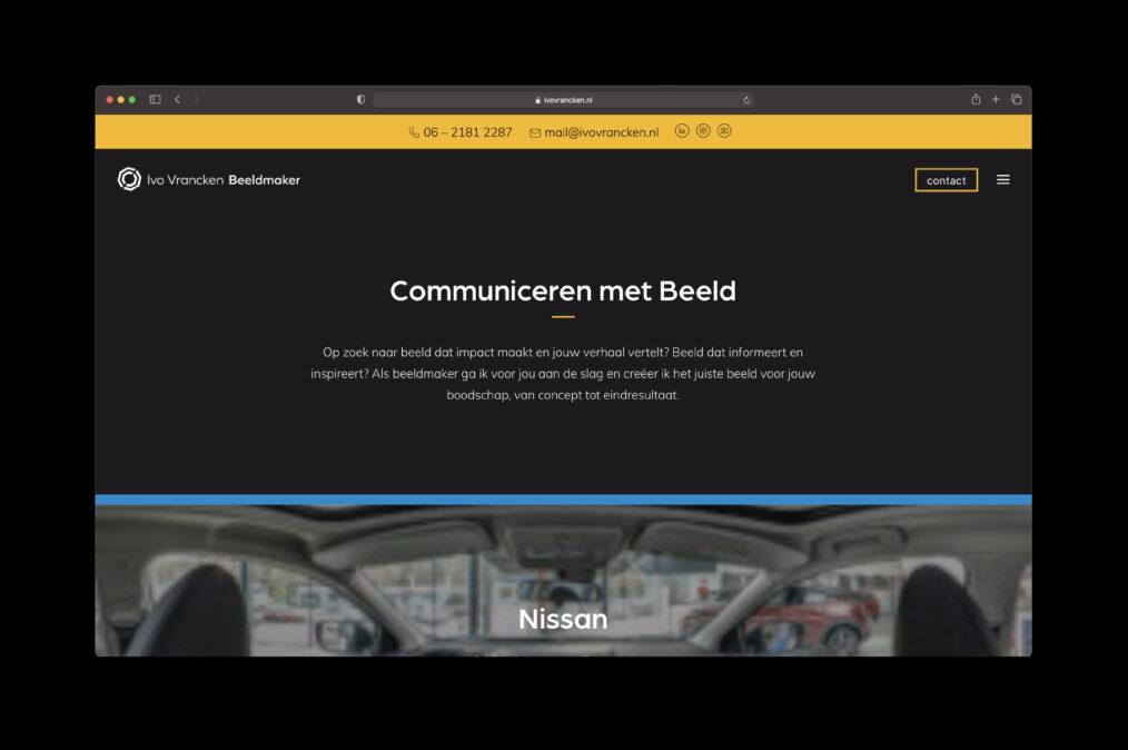 Website Ivo Vrancken - home - door Lizzy van ILUZIE